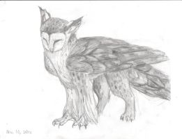Owl griffon by turnipBerry