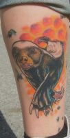 honey badger - healed version by SimplyTattoo