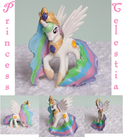 Celestia : Custom Sculpted MLP figure by alltheApples