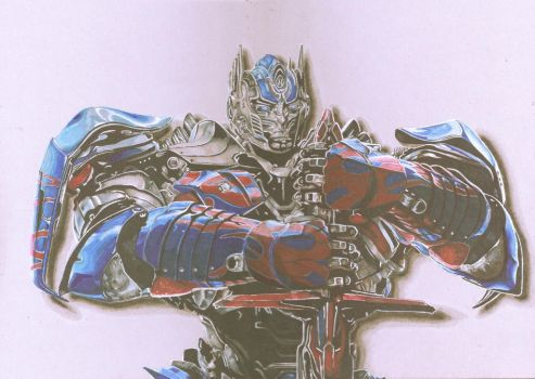 optimus prime with shadow by personnedali