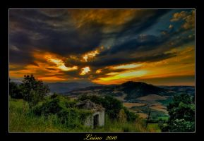 Dark sunset by laino