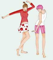 Dancing and Pink Trousers by DrPie