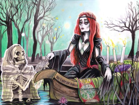 The Lady Of Shalott Meets Death by Harmony-Walls