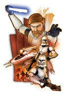 Obi-Wan Kenobi with Clones by SteveAndersonDesign