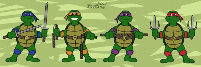 The Turtles by cardinalbiggles