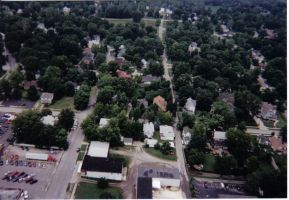 Birds Eye View of My Old House by ceaca