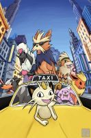 Movies with Pokemon - Oliver and Company by KariOhki