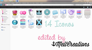 New icons edited by MeliCreations