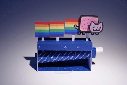 Nyan Cat Machine - Papercraft by kamibox