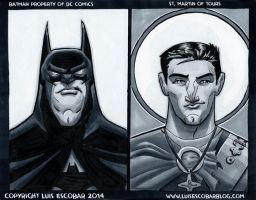 Batman and St. Martin of Tours by LuisEscobar