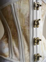 Swing Hook Closeup Vintage Map Corset by Trinitynavar