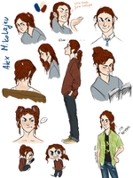 Alex sketches by GrreenTea