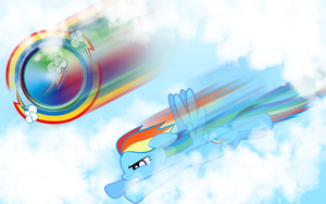 Rainbow Dash Wallpaper by Kage-Kaldaka
