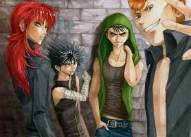 Yu Yu Hakusho is the shit by Atomic-Clover