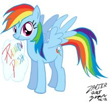 Rainbow Dash --My Very First Attempt by ZephyrFlash