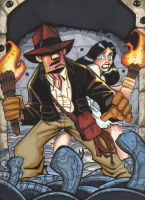 Indiana Jones and Marion by Locoduck