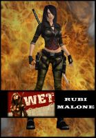 Lara Croft as Rubi Malone by LaraRules81