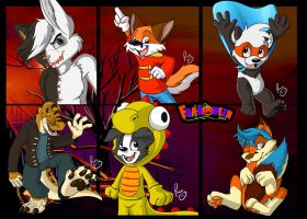 Vidafur's Halloween badges pt.4 by pandapaco