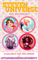 Steven Universe Button Pins by littleprincefinn