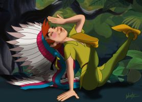 Peter Pan, I'm An Indian Too by snowsowhite