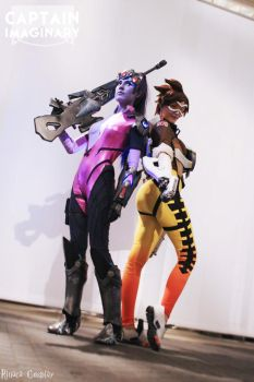Widowmaker and Tracer by Rinaca-Cosplay