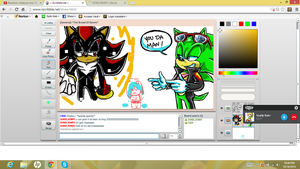 iscribble u DA man /super SEXY SHADOW lol by SONICJENNY