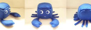 Blue Lobster Cube Plushie by Cube-lees