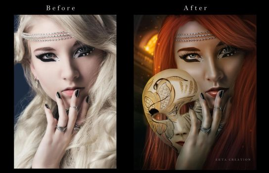 The Mask Before After by ektapinki