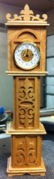 Cherry Grandfather Clock by 55fish