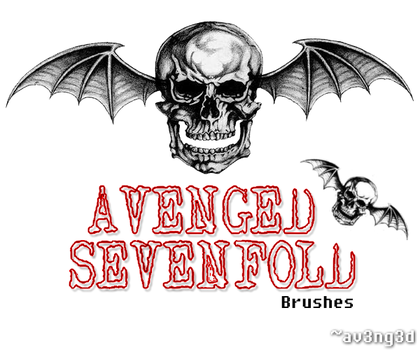 Avenged Sevenfold Brushes by aV3nG3d