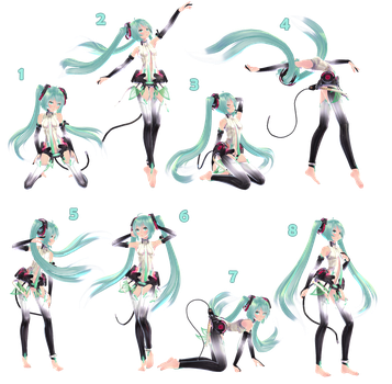 [MMD] Pose Pack 1 - DL by Snorlaxin