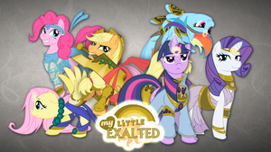Mane 6 Exalted Wallpaper by Rhanite