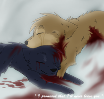 Blue's and Hige's death by J-Wolvie