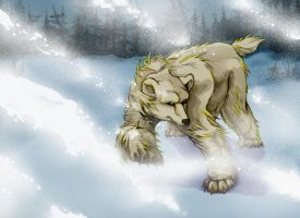 Polar Bear In A Snowstorm (2012) by LaNora-84