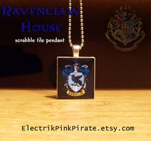 Ravenclaw Scrabble pendant by ElectrikPinkPirate