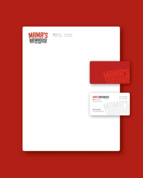 Mama's Brewhouse Stationery by mattnagy