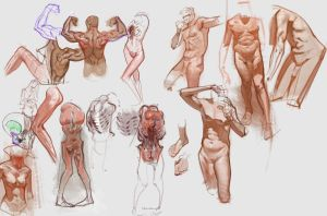 Figure Sketches jul29th by vladgheneli