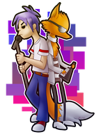2D and Goldie by Zoiby