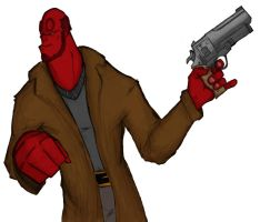 Hellboy... by drakeybaby