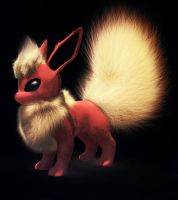 Flareon 3d Model  - render by Goophou