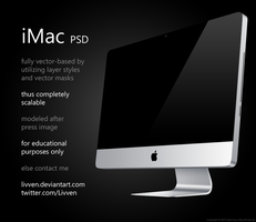 Apple iMac PSD by Livven