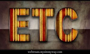 Striped Retro Text Effect by WebTreatsETC