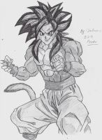 Super Saiyan 4 goku drawing by StaticFOOL100