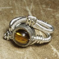 cyberpunk citrine ring by CatherinetteRings