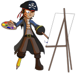 Day 12 - Arty Pirate (Redesign) by TheFlippmeister