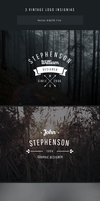 Freebie - 3 Vintage Vector Logo Insignias by GraphBerry