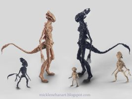 The Xenomorphs by Mick2006