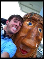 Me and Wood Carving Dude by ADDanny
