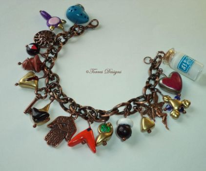 Copper OoT Charm Bracelet Handmade by TorresDesigns