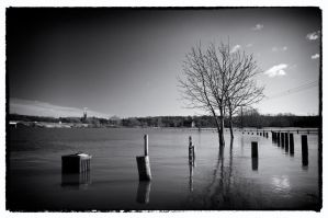 Flooded - Burton on Trent by Engazung